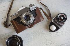 Vintage camera gear Stock Images