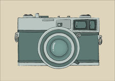 Vintage camera green Royalty Free Stock Photography