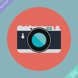 Vintage Camera Icon - vector illustration Stock Photography