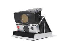 Vintage camera isolated on white Stock Photos