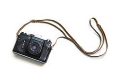 Vintage camera isolated on white background Stock Image