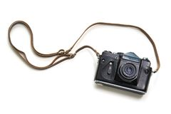 Vintage camera isolated on white background Royalty Free Stock Photos