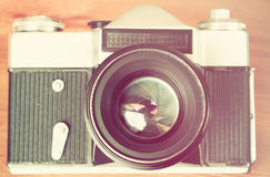 Vintage camera lens close up Royalty Free Stock Images