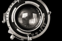 Vintage camera lens close-up Royalty Free Stock Photo