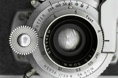 Vintage Camera Lens Closeup Royalty Free Stock Photo