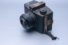 Vintage camera with lens royalty free stock photo