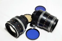 Vintage camera lenses Royalty Free Stock Photo