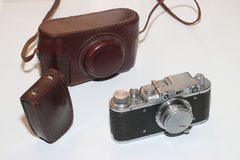vintage camera and light meter Royalty Free Stock Photo