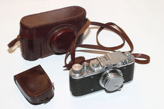 vintage camera and light meter Stock Photos