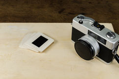 Vintage camera with luggage,concept image Stock Image