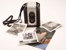 Vintage camera memories Stock Images