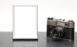 Vintage camera and photo Royalty Free Stock Images