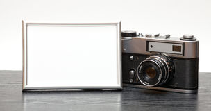 Vintage camera and photo Royalty Free Stock Photography