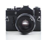 Vintage camera. Vintage photo camera isolated on white Stock Photos