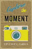 Vintage camera poster Royalty Free Stock Images