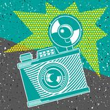 Vintage camera poster Royalty Free Stock Image