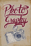 Vintage camera poster Royalty Free Stock Photography