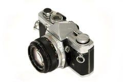 Vintage camera reflex. Isolated on white background royalty free stock photo