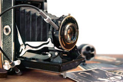 Vintage camera and retro items. In this photo vintage camera and retro items stock photos