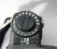 Vintage camera sensitivity dial. Picture of a Vintage camera sensitivity dial Stock Images