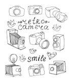 Vintage camera set royalty free illustration
