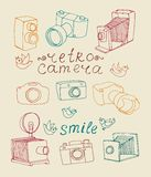 Vintage camera set Royalty Free Stock Photo