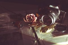 Vintage camera still life Royalty Free Stock Images