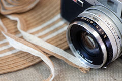 Vintage camera still life Royalty Free Stock Photography