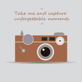 Vintage camera - Take me and capture unforgettable moments Royalty Free Stock Images