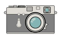 Vintage camera vector illustration Stock Image