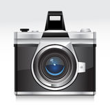 Vintage Camera. Vector Illustration of a old Camera Royalty Free Stock Images