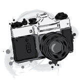 Vintage camera vector. Poster. Card. I appreciate the moments. Royalty Free Stock Photography