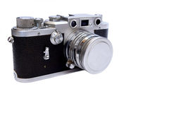 Vintage Camera on white background Royalty Free Stock Photos