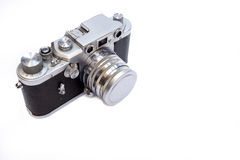 Vintage Camera on white background Royalty Free Stock Photo