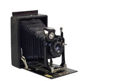 Vintage camera. On a white background Royalty Free Stock Photos