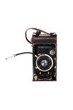 Vintage Camera. White isolated retro vintage camera stock photography