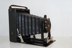Vintage camera. 100 years ago Stock Photography