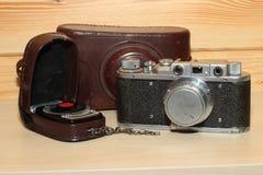 Vintage cameraand light meter Stock Image