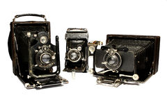 Vintage cameras. A collection of vintage cameras Royalty Free Stock Photography