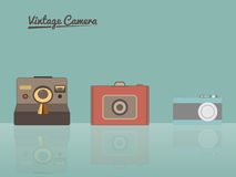 Vintage Cameras illustration Stock Photos