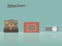 Vintage Cameras illustration Stock Photos