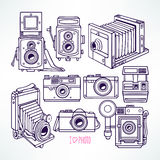 Vintage cameras Royalty Free Stock Photos