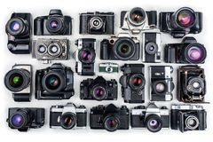 Vintage Cameras. Royalty Free Stock Photos