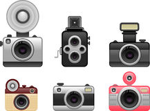 Vintage cameras set 1 Royalty Free Stock Photo