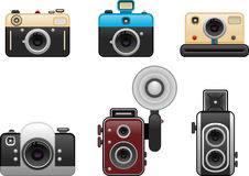 Vintage cameras set 2 Royalty Free Stock Photography
