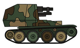Vintage camouflaged self propelled gun Stock Photography