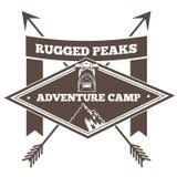 Vintage camp badge icon. Royalty Free Stock Image