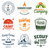 Vintage Camp Graphics Stock Images