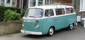 Vintage Camper Van Stock Photo