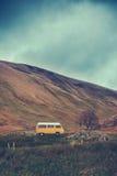 Vintage Camper Van In The Wilderness Royalty Free Stock Images
